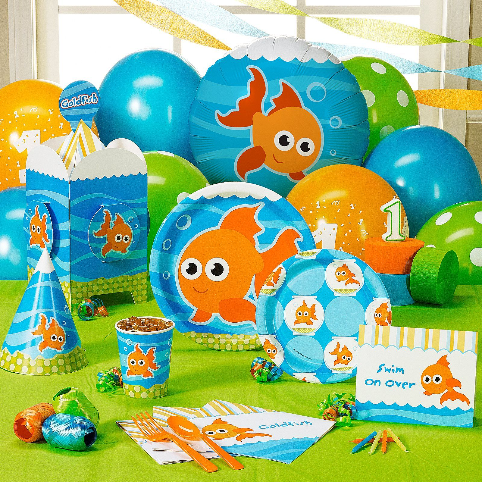 Goldfish plates perfect to go with our Bubble Guppies theme