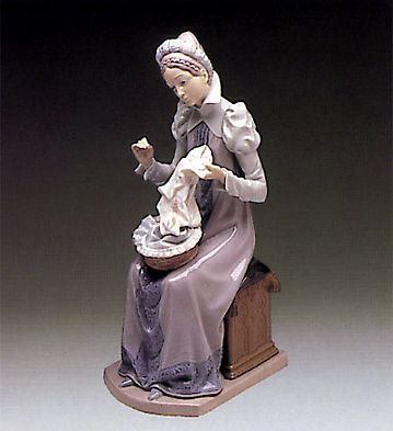 Lladro Medieval Lady Embroidering E Bay Etsy