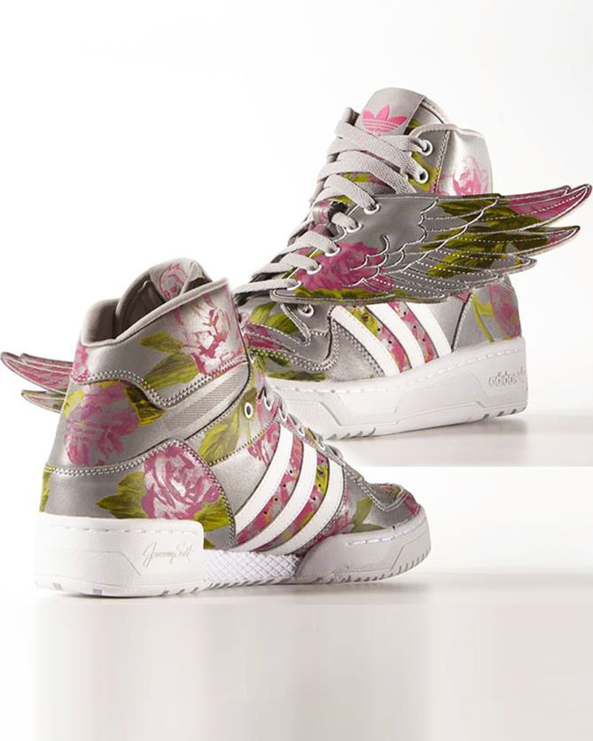 "7d3f28062378 JEREMY SCOTT X ADIDAS ORIGINALS WINGS ""REFLECTIVE FLORAL"""
