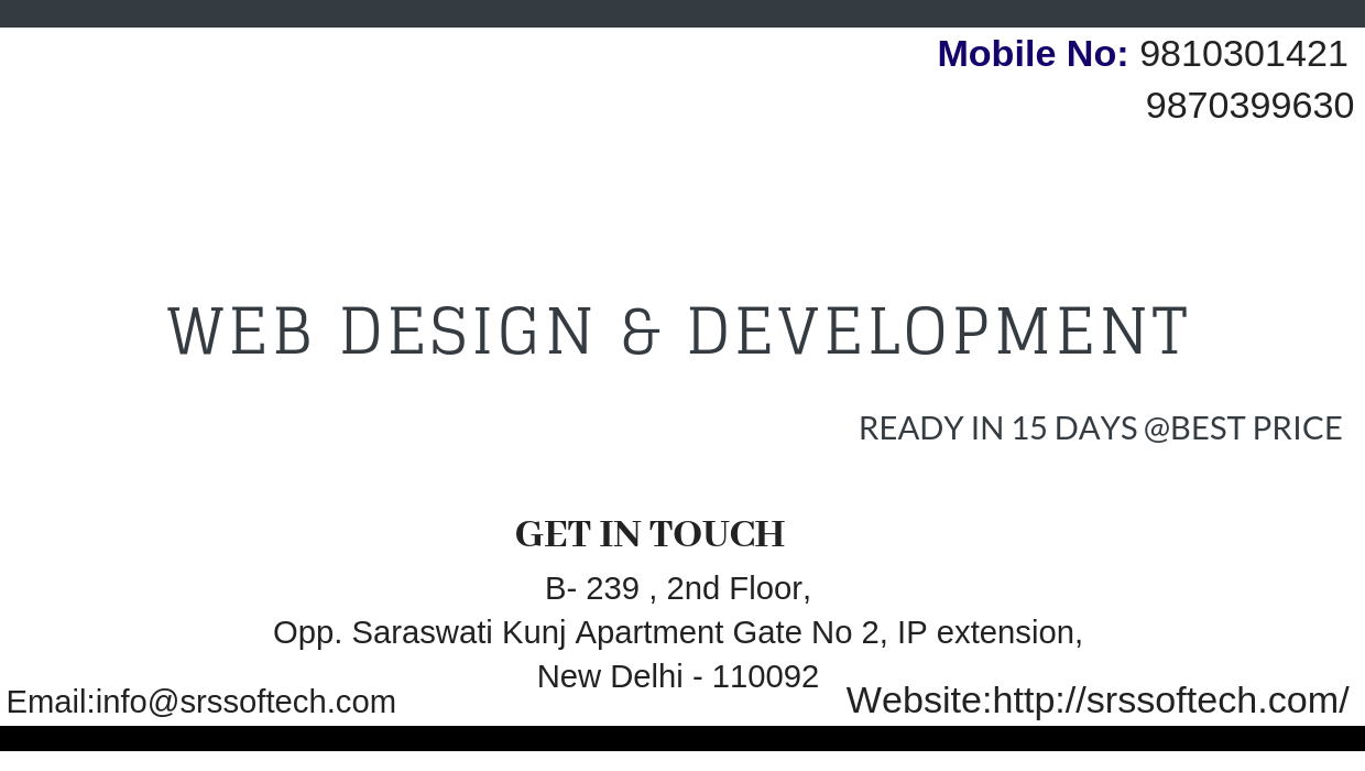 Web Design And Development Ready In 15 Days Best Price Website Design Development Web Design And Website Web Development Design Web Design Development