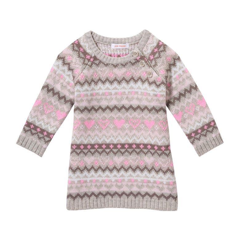 Baby Girls' Fair Isle Knit Dress | Baby Nora <3 | Pinterest