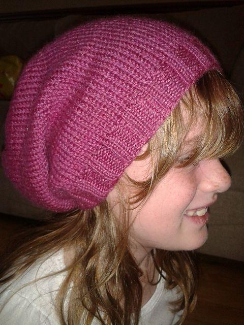 Slouch hat free knitting pattern.   Hat knitting patterns ...