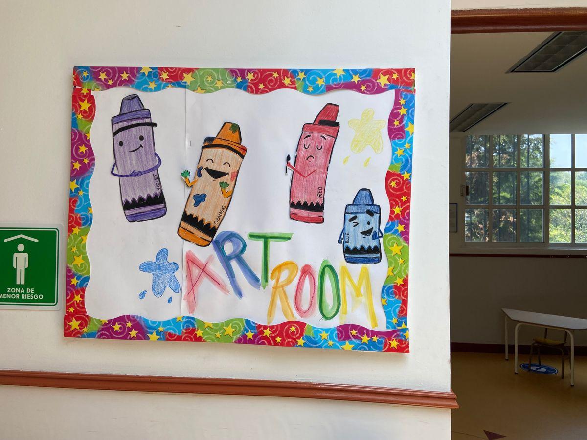 Crayons Bulletin board