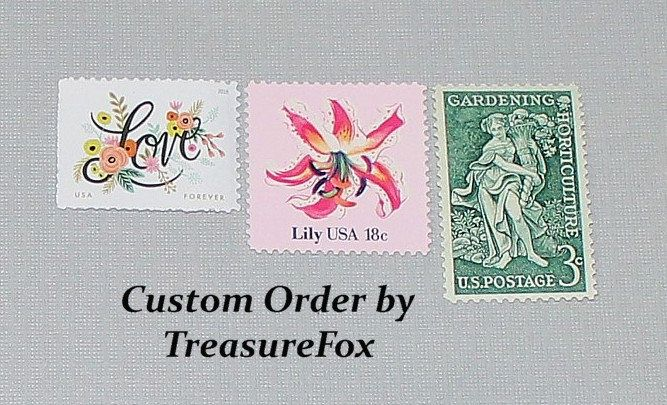 Reserved Custom Order For Caroline Unused Vintage Us Postage Stamps