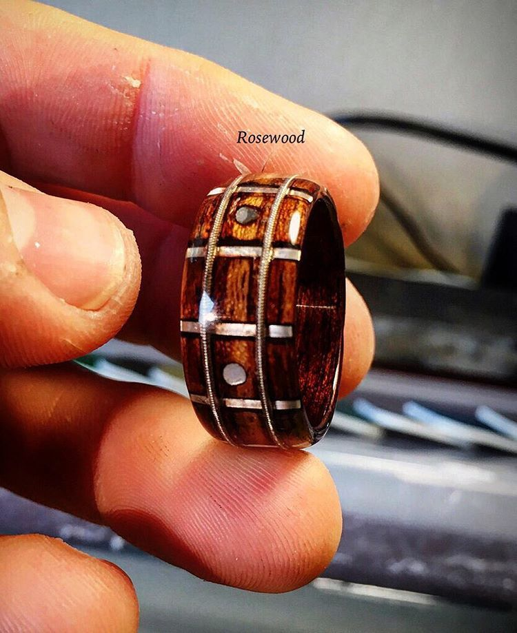 progress pic of a size 13 5 rosewood fretboard jewelry and sparkly things pinterest ring. Black Bedroom Furniture Sets. Home Design Ideas