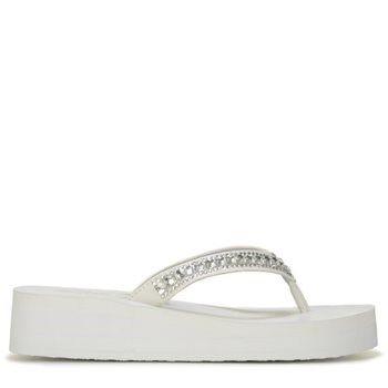 459e6913a0af0e Skechers Women s Vinyasa Treasure Trove Flip Flop Sandals (White)