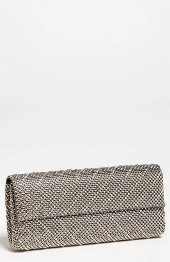 Whiting & Davis 'Crystal Chevron' Flap Clutch | Nordstrom #nordstromweddings