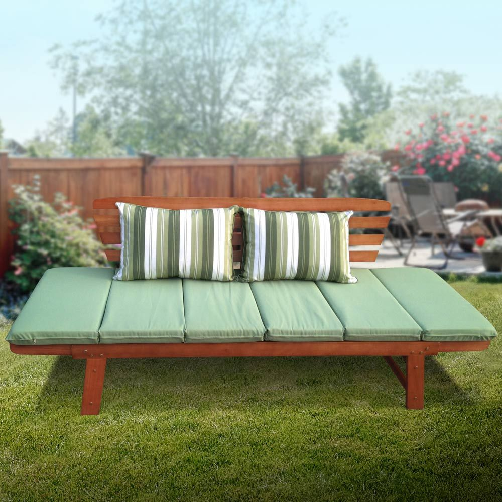 Luxo Chatsworth 2-in-1 Eucalyptus Hardwood Day Bed with ... on Luxo Living Outdoor id=42449