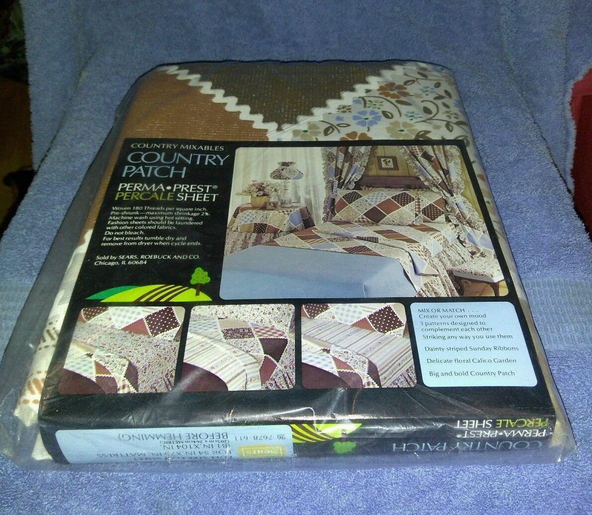 Vintage Sears Best Percale Sheet Full Size Flat Sheet White Full Flat Bedsheet