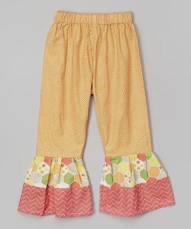 This Orange Dot Ruffle Pants - Infant & Toddler by Caught Ya Lookin' is perfect! #zulilyfinds