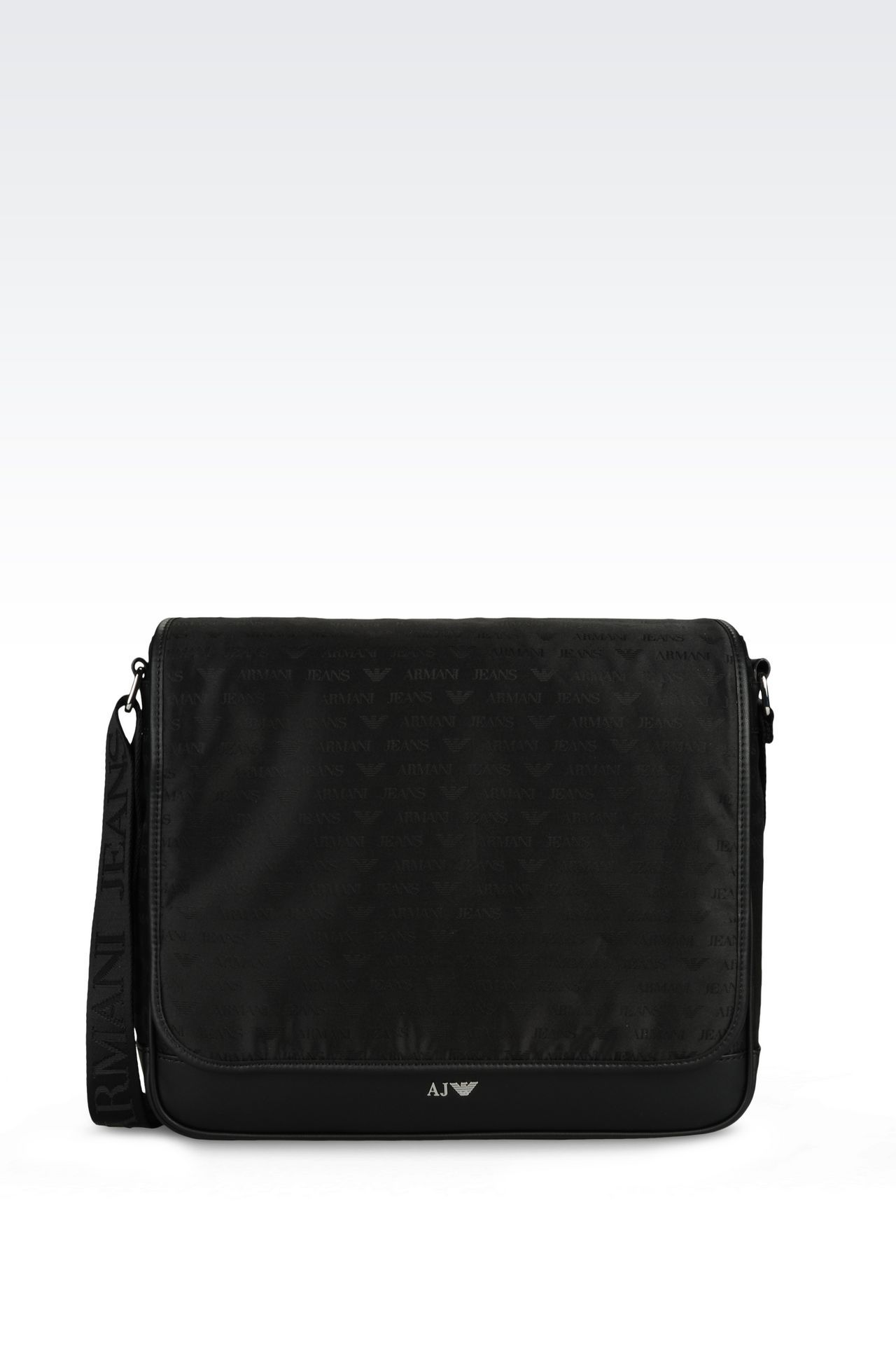 MESSENGER BAG AUS JACQUARD MIT LOGO-MUSTER: Messenger Bags Für Ihn by Armani - 0