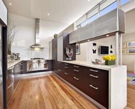 Floorboards Country Shaped Kitchen Design - Kitchen Kitchen
