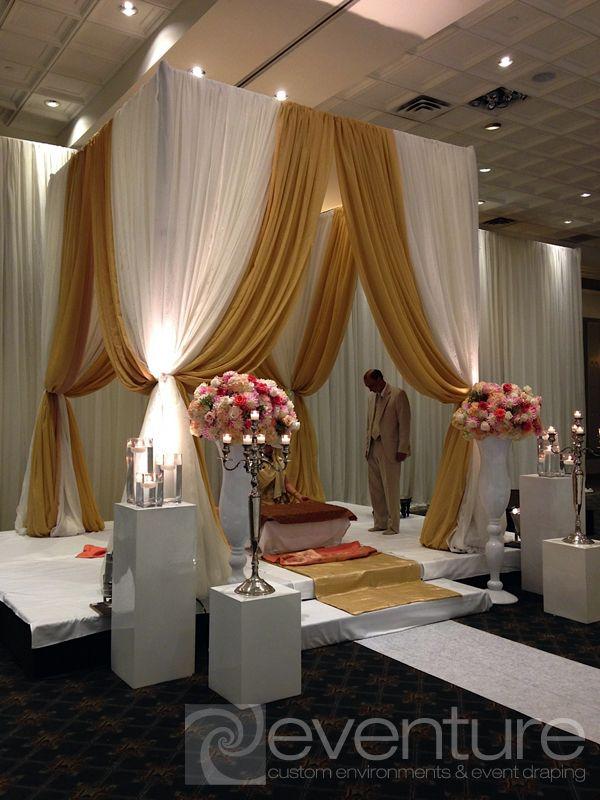 Wedding Chuppa Draping And Installations Wedding Stage Decor Wedding Decorations Wedding Chuppah