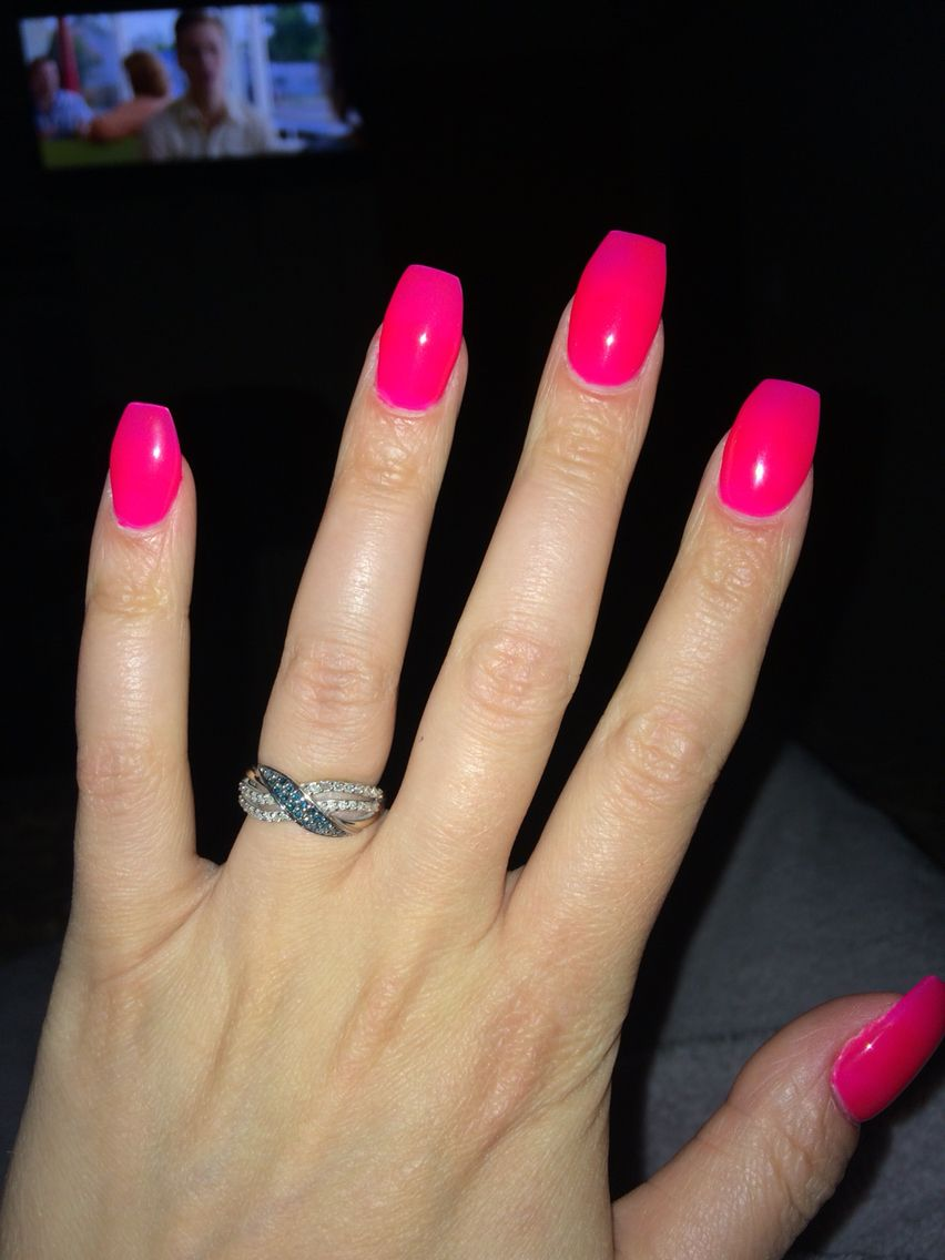 Pink Coffin Nails Acrylic Nails Coffin Short Summer Acrylic Nails Cute Pink Nails