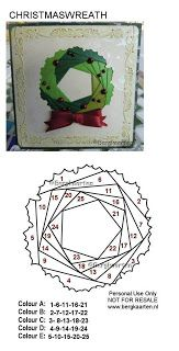 Irisvouwen Christmas Wreath Iris Folding Pattern Iris Folding Templates Folded Christmas Cards