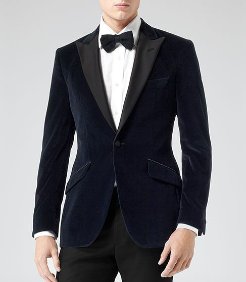 New Latest Reiss Harry Modern Fit Suit Jacket Navy for Men Online Sale Online