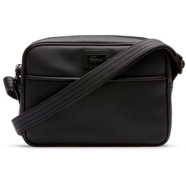 Lacoste Women's Classic crossover bag in coated canvas ($95) ❤ liked on  Polyvore featuring