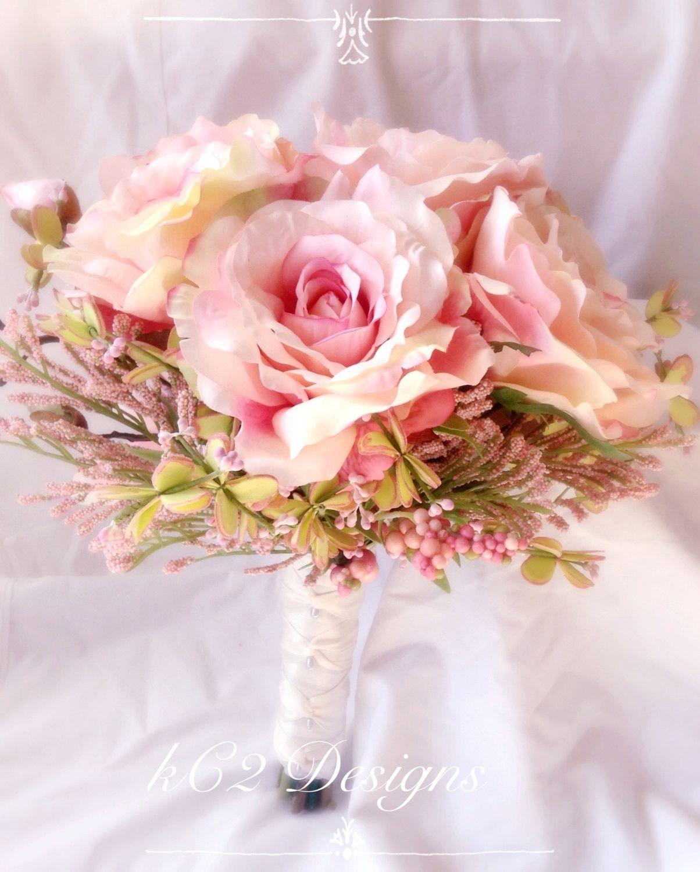 Silk flower wedding bouquet. Silk bouquet. Bridal bouquet. YOUR ...