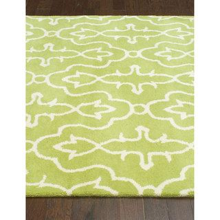 nuLOOM Handmade Green/ Ivory Transitional Lattice Wool Rug (5' x 8')   Overstock.com Shopping - The Best Deals on 5x8 - 6x9 Rugs