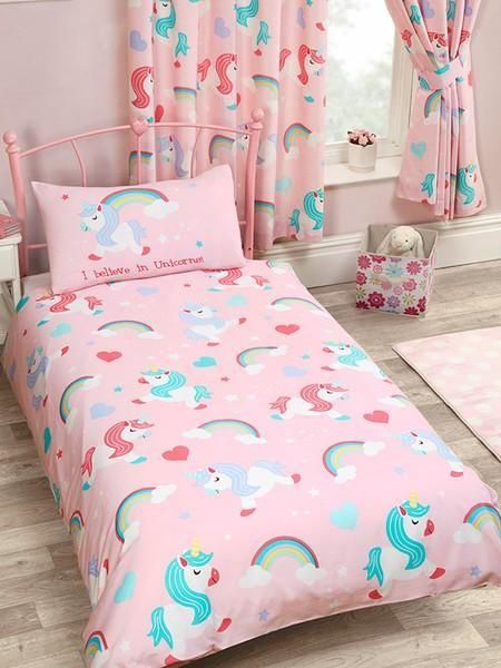 I Believe In Unicorns Duvet Curtains Set Unicorn Bedding