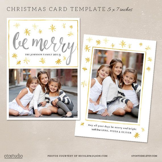 Digital Photo Christmas Card Template For By Otostudio On Etsy 7 50