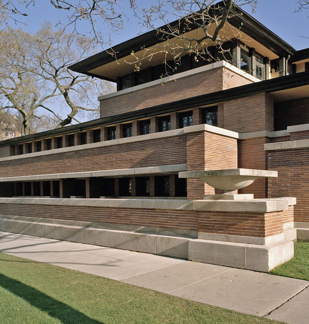 frank lloyd wright robie house hyde park chicago 1909 arch pinterest architektur. Black Bedroom Furniture Sets. Home Design Ideas