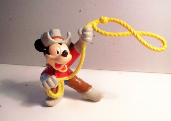 cowboy Mickey ... can't believe this was a McDonald's toy. Their toys used to be so much cooler back in the good ol' days.