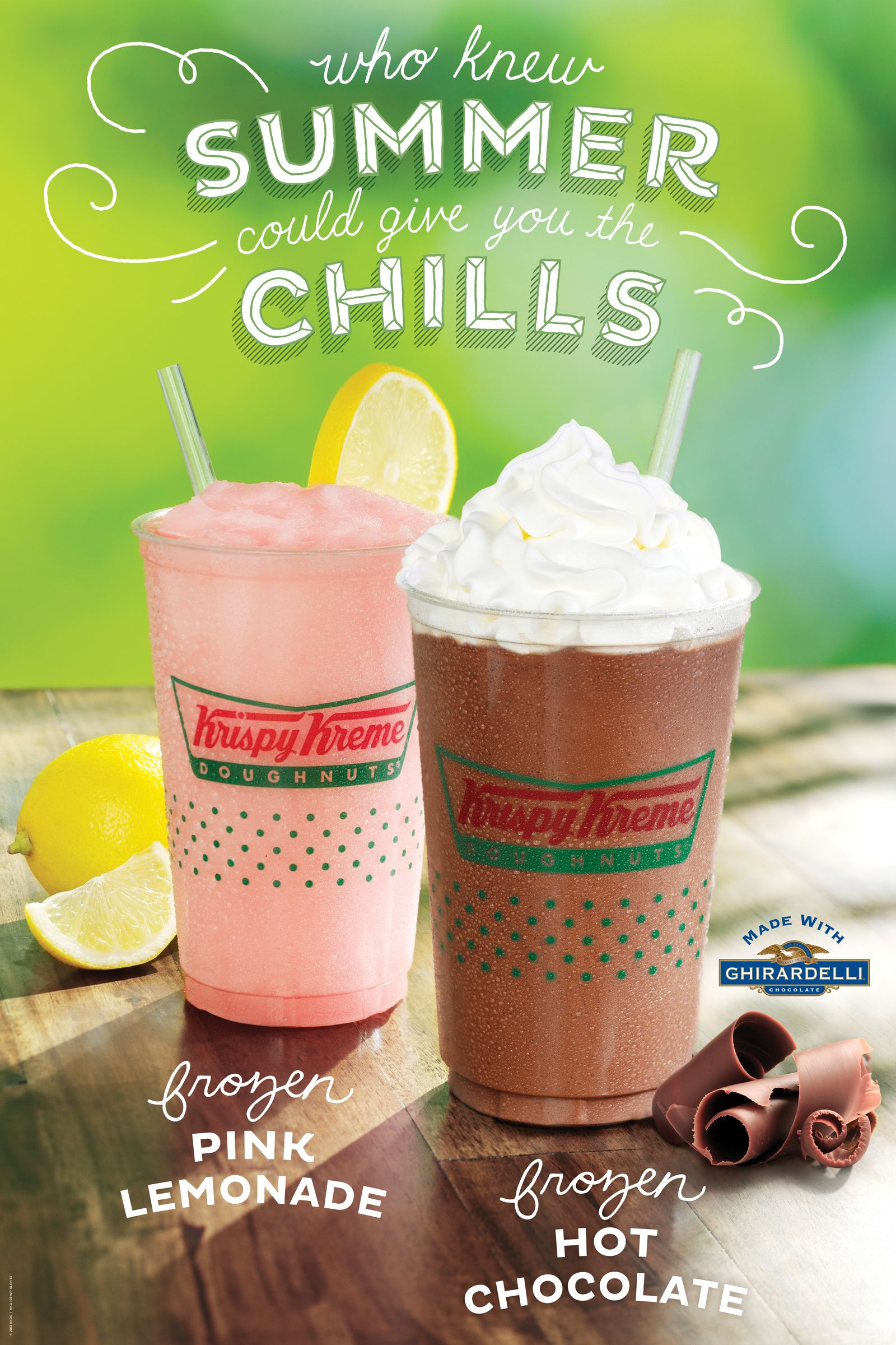 Sip your way to yumminess. Frozen hot chocolate, Key