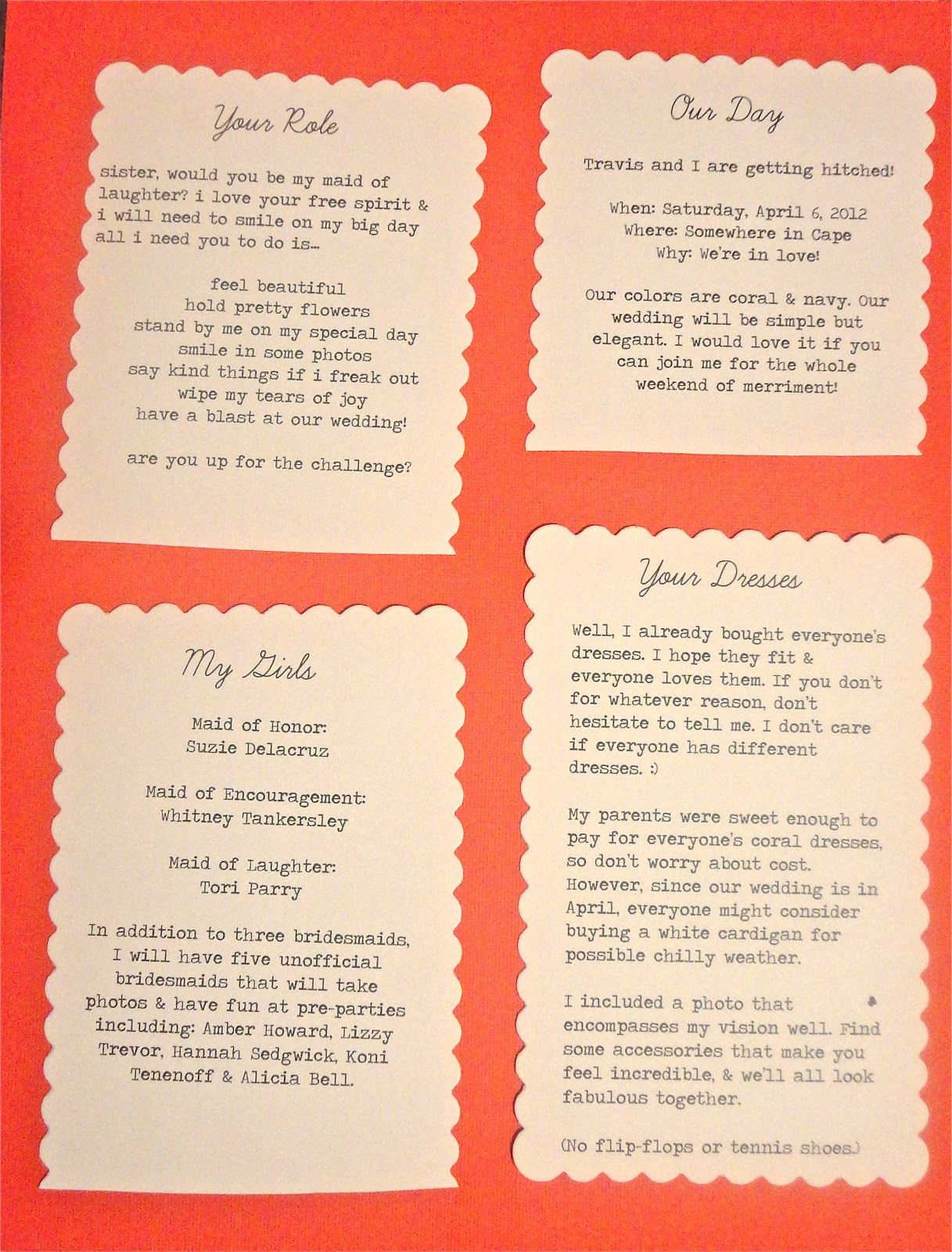 Image result for your bridesmaid role cards | Kellie and Thomas ...