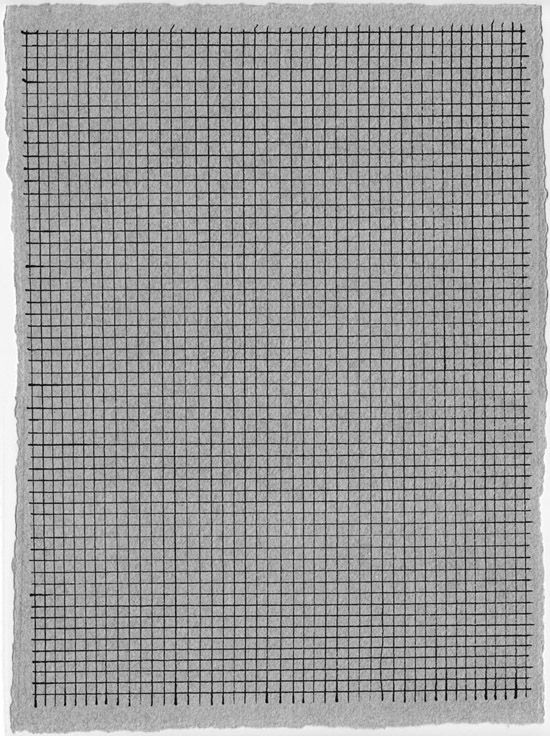 Grid Drawing ink on paper 1988 Marcia Hafif Grids and Graph - graph papers