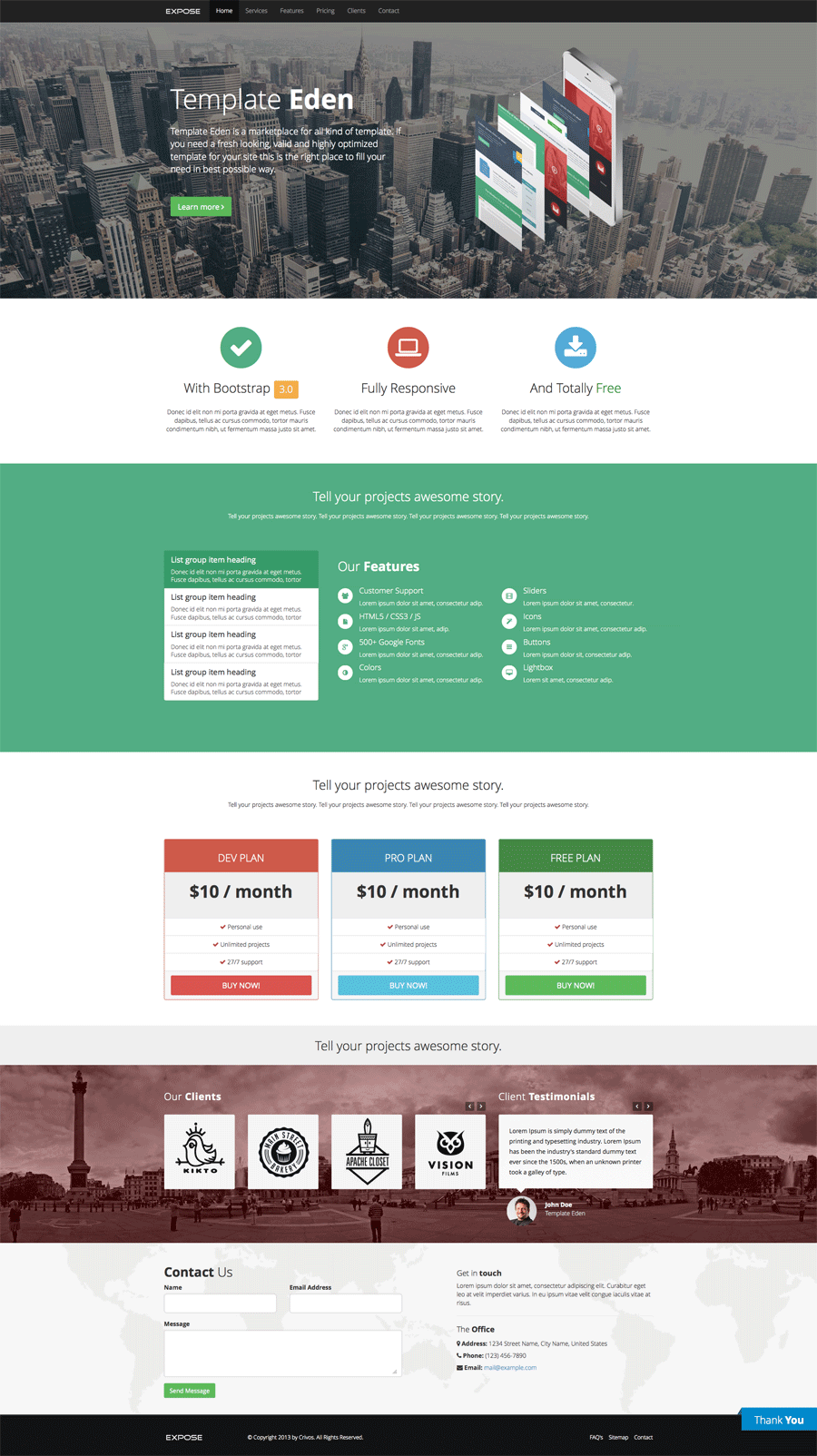 Perfect Single Page Css Template Motif - Professional Resume ...