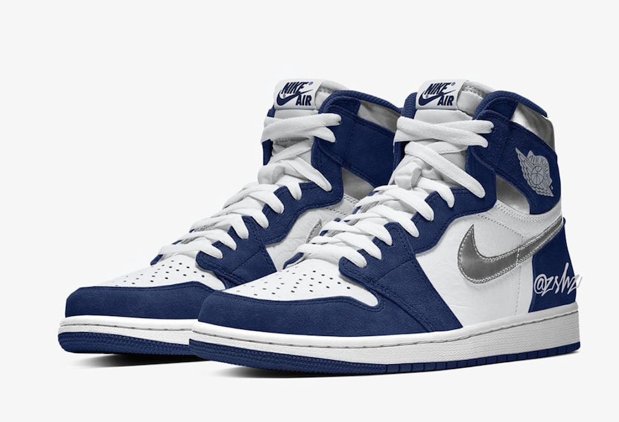 Air Jordan 1 Midnight Navy Metallic Silver 555088141