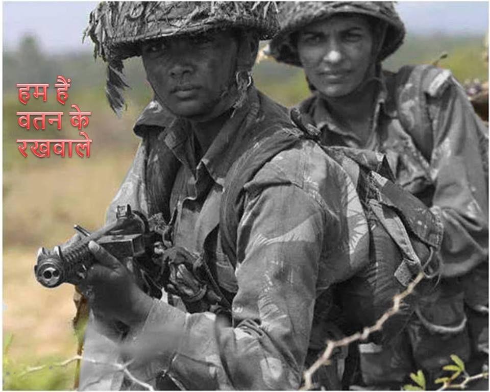 Lady cadet at ota during jungle warfare training