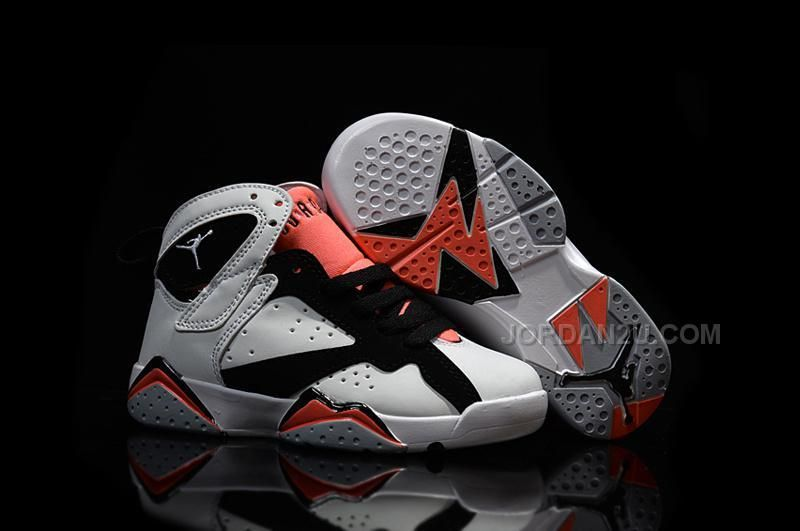 Buy New 2016 Nike Air Jordan 7 Retro GS White Black Red Sneakers Kids  Basketball Shoes from Reliable New 2016 Nike Air Jordan 7 Retro GS White  Black Red ...