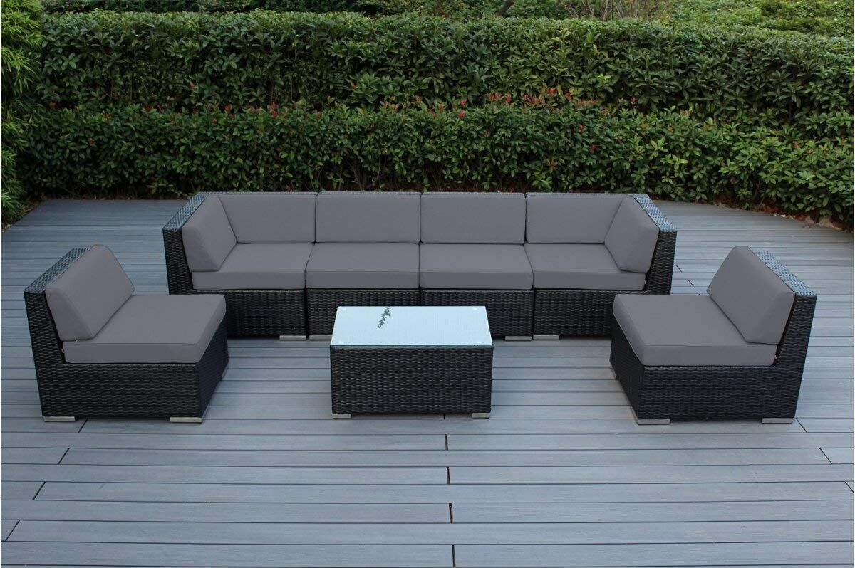 Genuine ohana outdoor sectional sofa and dining wicker patio