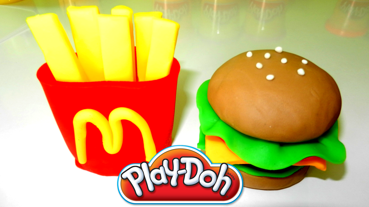 1280x720 1y1 Png 1280 720 Play Doh Burger Homemade Playdough Recipe
