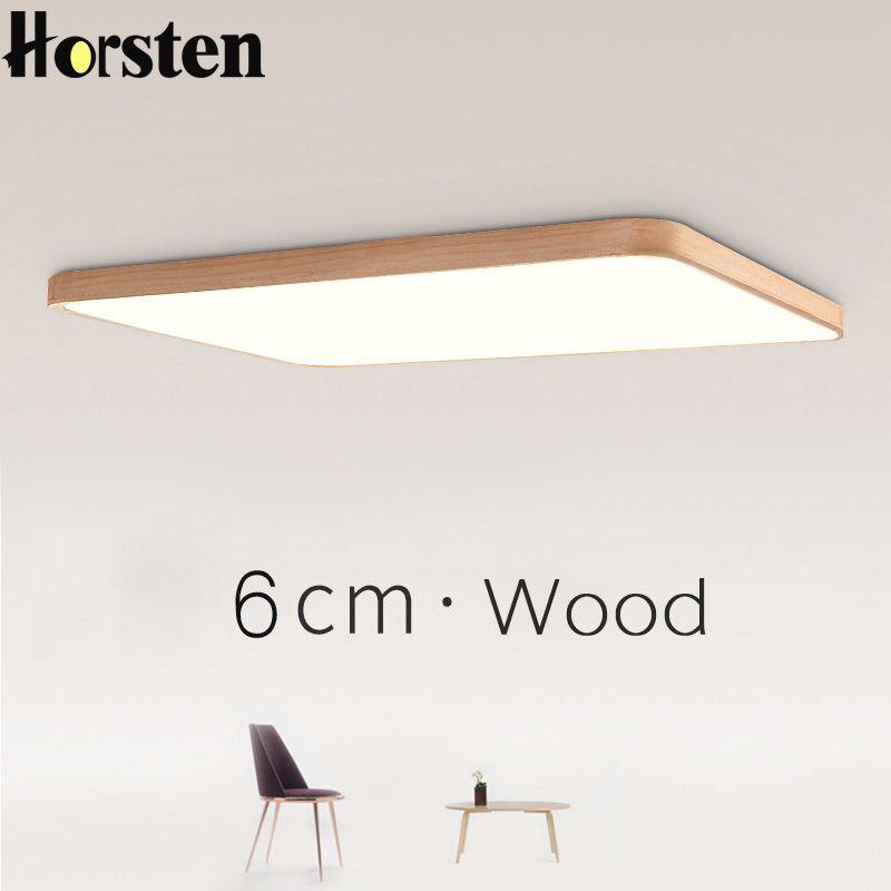 Günstige Nordic Einfache Moderne Eichenholz Deckenleuchte Ultra