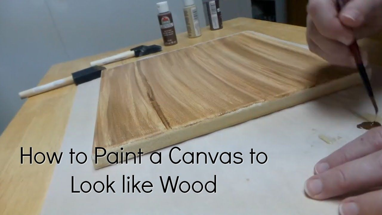 How To Paint A Canvas To Look Like Wood Diy Faux Wood Canvas Painting Painting Wood Paneling Painting Fake Wood Faux Wood Paint