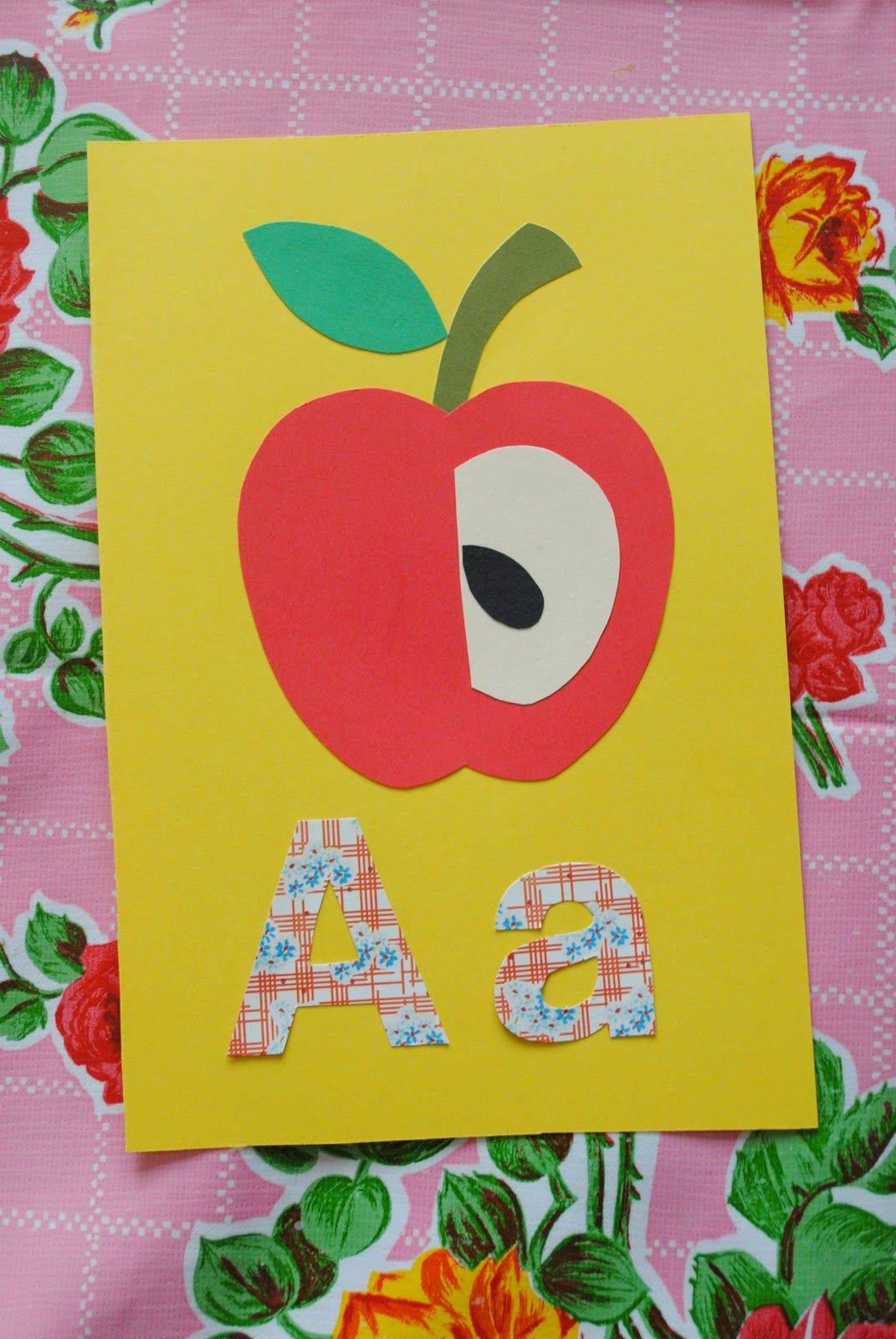 A Is For Apple Art Project