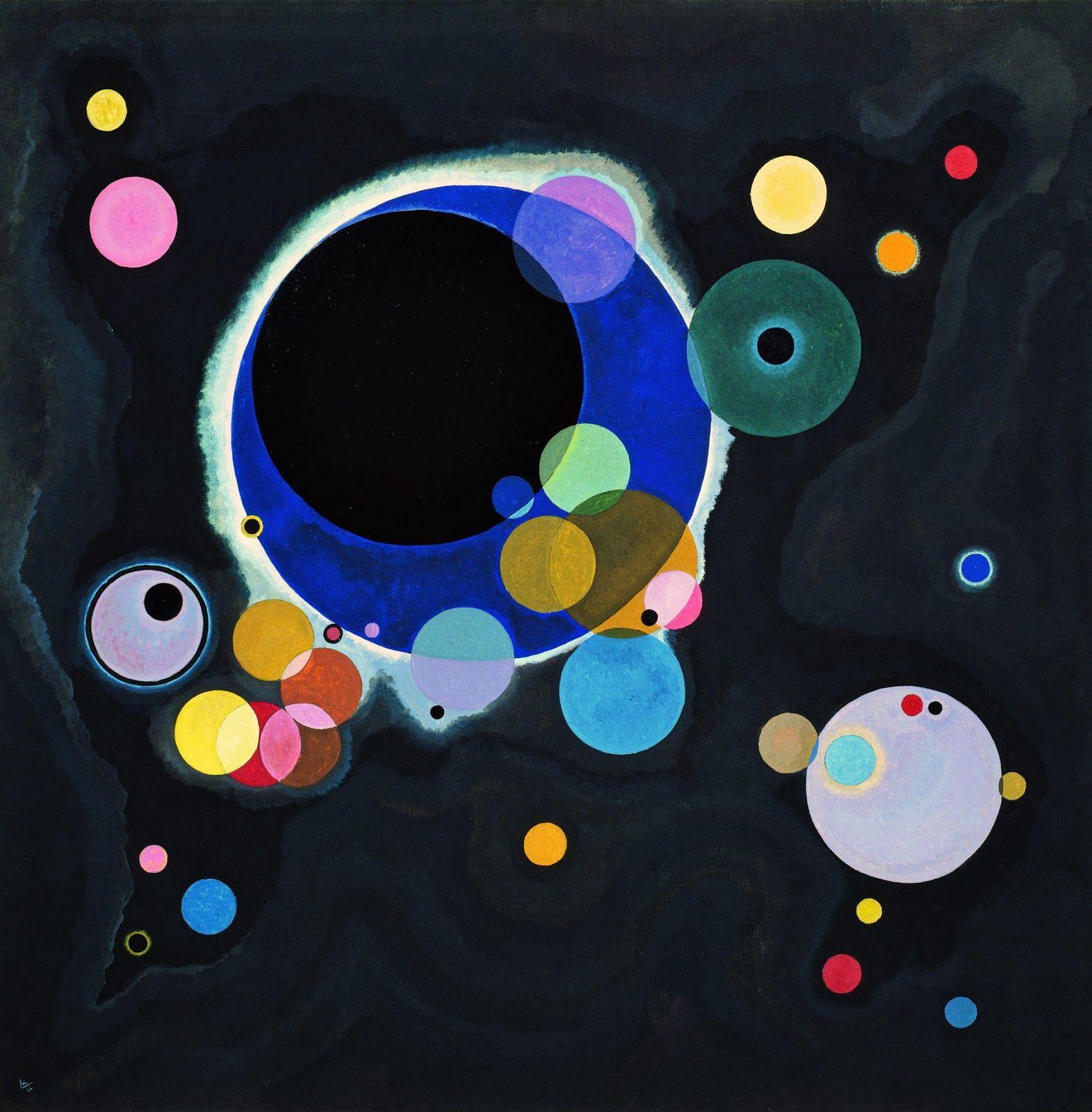 Algunos círculos, 1926.Kandinsky | Arte abstracto, Wassily ...