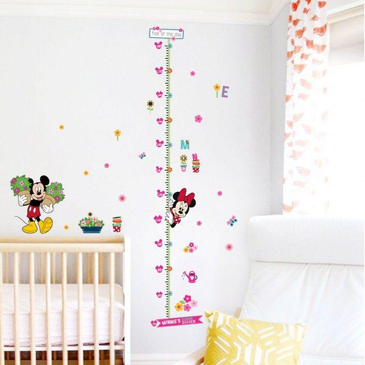 Enfants Hauteur Croissance Chart Mesure Autocollant Mural Enfants Chambre Décor animal decal