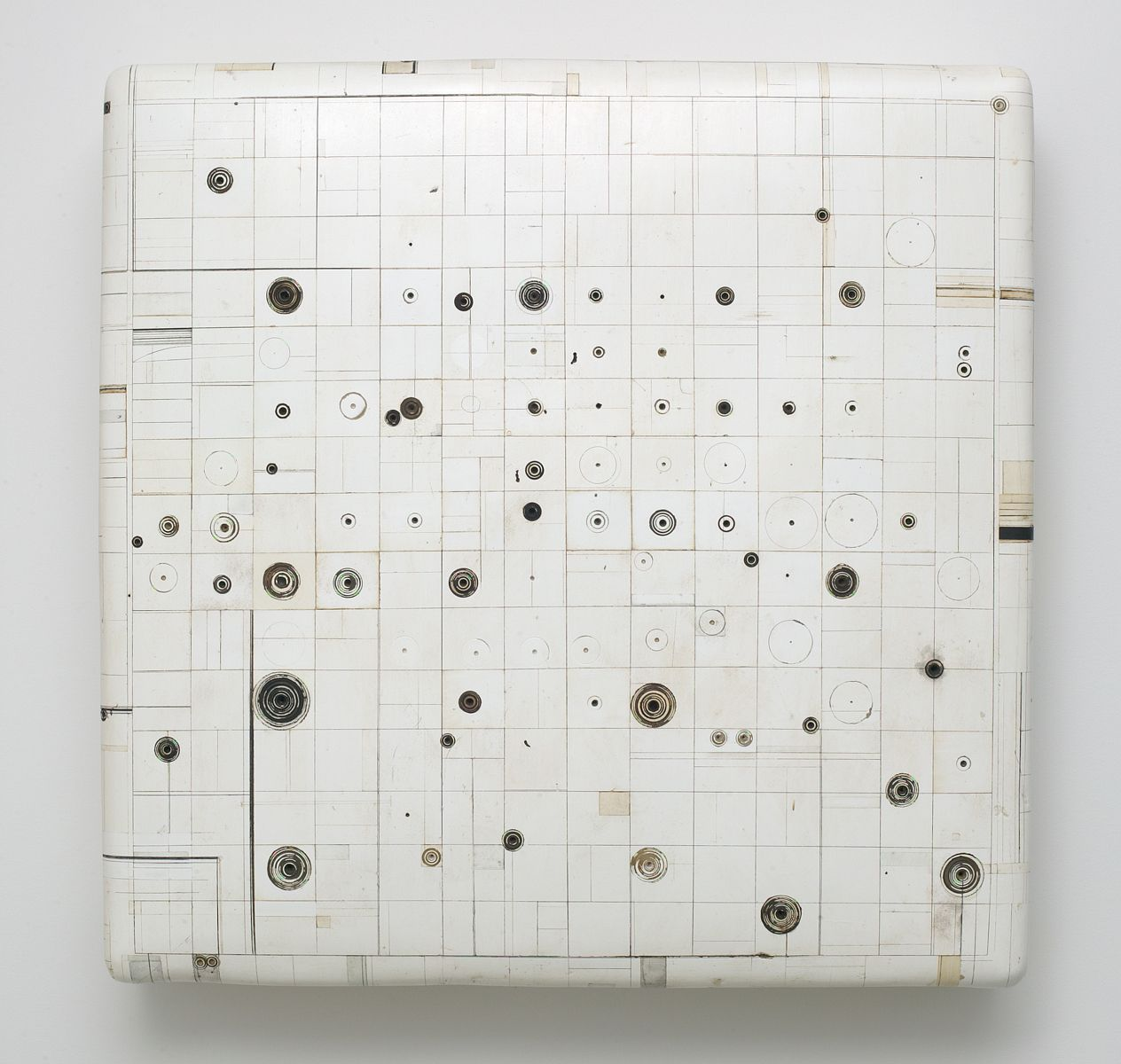 """Untitled #44, 2002-2005, 33""""x33""""x7"""" (sold)"""