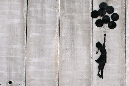 "Graffiti Balloon Girl 24/""x36/"" Canvas Print Banksy"