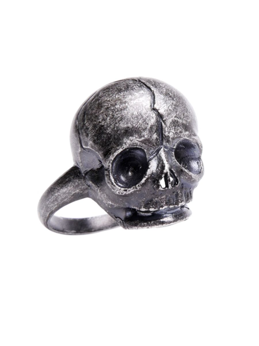 Nephilim Sterling Silver Ring #disturbiaclothing disturbia house of wolves oxidised finish skull alien occult goth grunge witch alternative jewellery