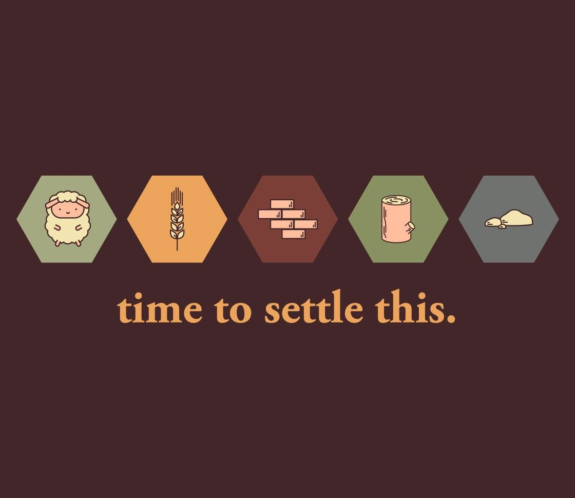 Time To Settle This Catan Board Catan Board Game Settlers Of Catan
