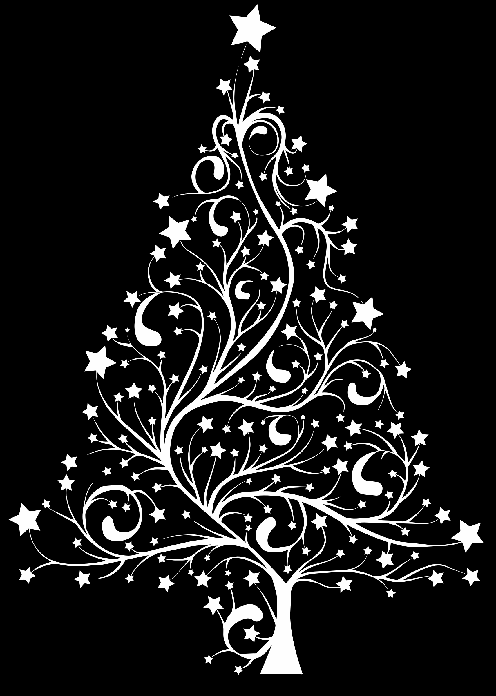 Starry Christmas Tree by GDJ From Pixabay Background is easily