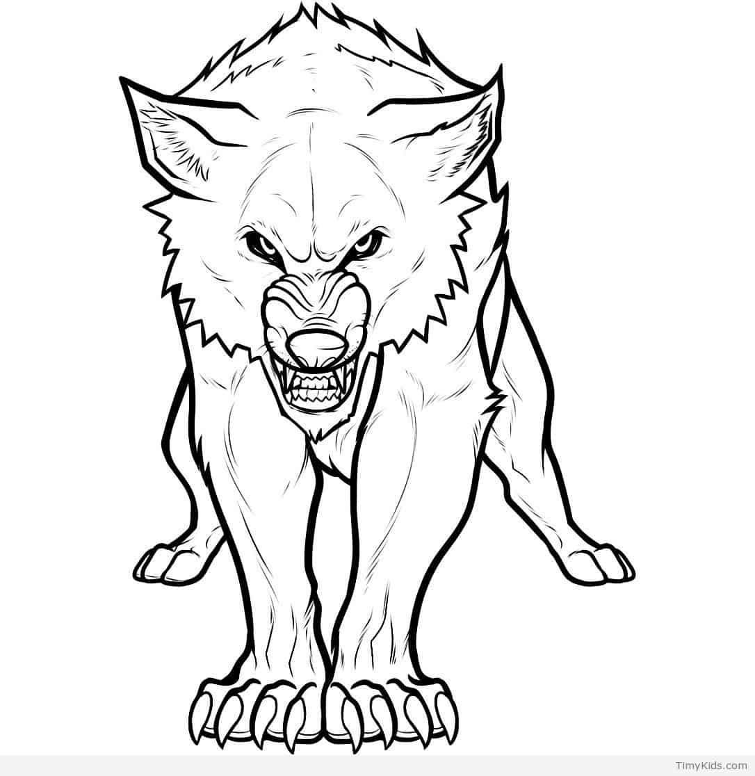 Ausmalbilder Heulender Wolf - My Blog