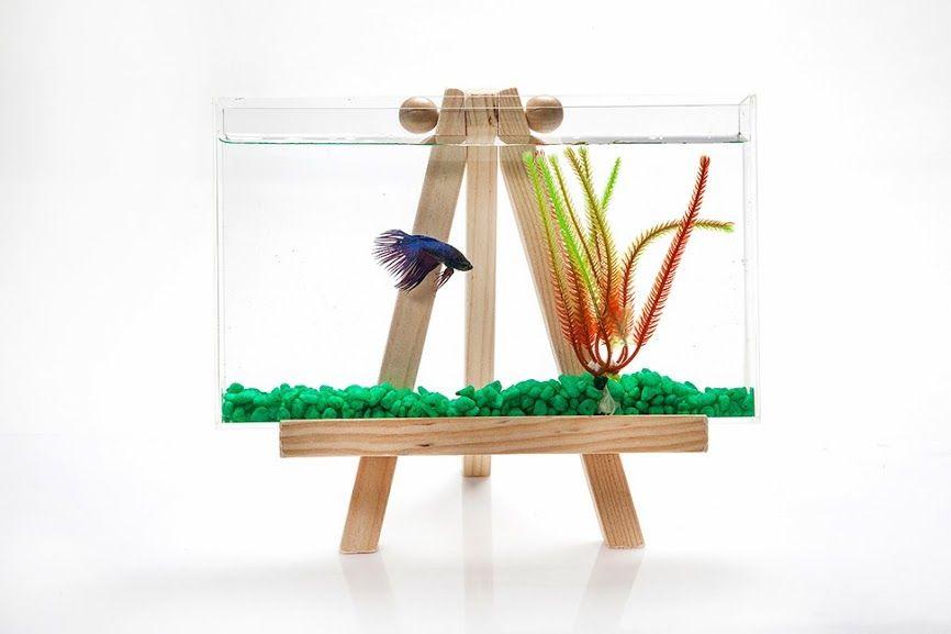 Square Betta Tank | ... Office Desk Fish Tank Aquarium Betta Fish Acrylic  Background