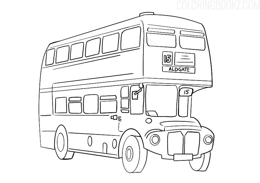 Double Decker Bus Coloring Page Red London Bus Coloring Books Bus Autobus Buscoloring Buscoloringpage London Bus Coloring Books Printable Coloring Book