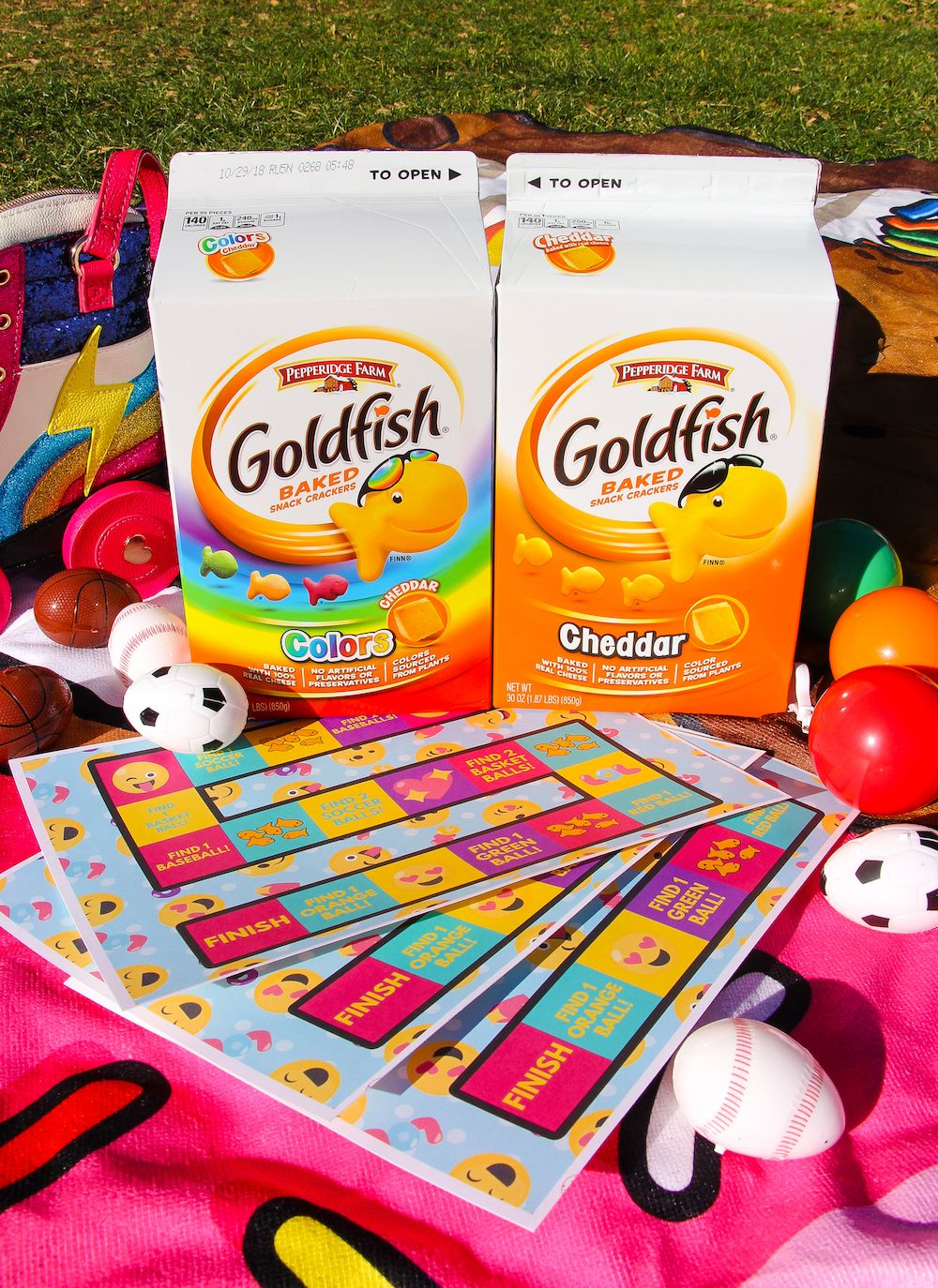 #ad - Check Out Our #DIY Find The Goldfish® Crackers Spring Time Game On The Blog Today! #GoldfishGameTime
